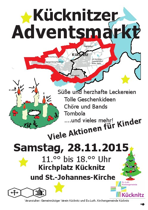 Adventsmarkt 2015 Plakat